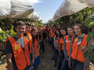 Kern County FARMS Leadership Class of 2018-19 Touring Sun World International