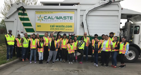 Cleaning Up The Trash At Cal Waste!