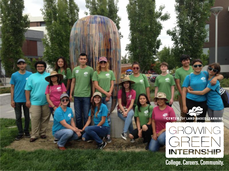 Growing Green Interns at West Sacramento Farmer's Market