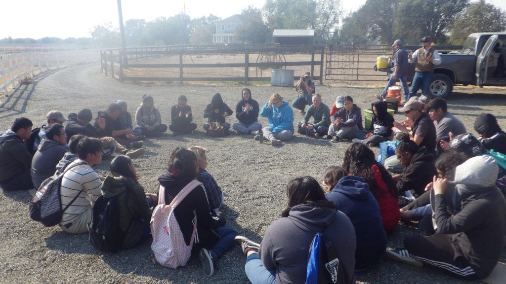 Grant students at Clark Ranch